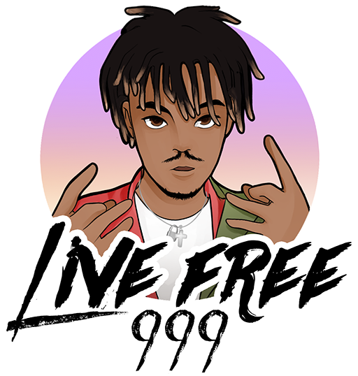 Live Free 999 Logo for Dark Background